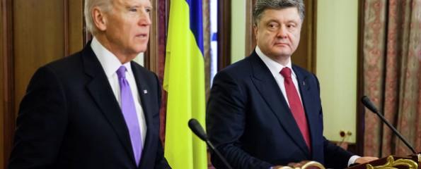 Президент Украины Петр Порошенко и вице-президент США Джозеф Байден на встрече в швейцарском Давосе обсудили проект