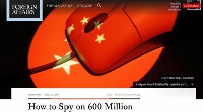 «Как шпионить за 600 миллионами человек»: исследование о кибершпионаже США против Китая