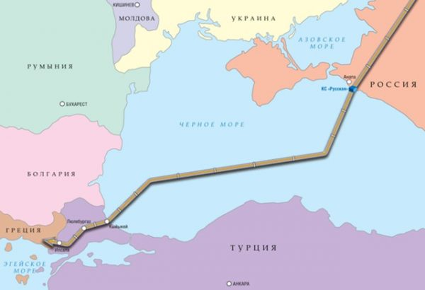 """""""Турецкий поток"""" пересек границу Турции"""