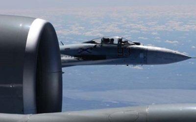 Су-27 перехватил американский самолет-разведчик у границы России