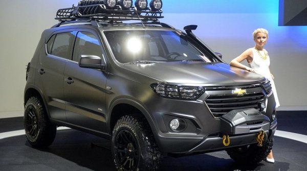 Автомобиль Chevrolet Niva concept на Московском международном автомобильном салоне