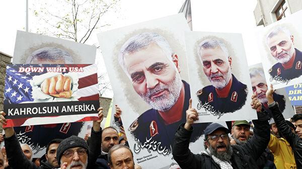 Протест против убийства иранского генерал-майора Касема Сулеймани