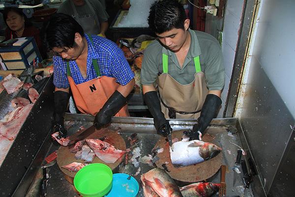 Переработка рыбы в Китае