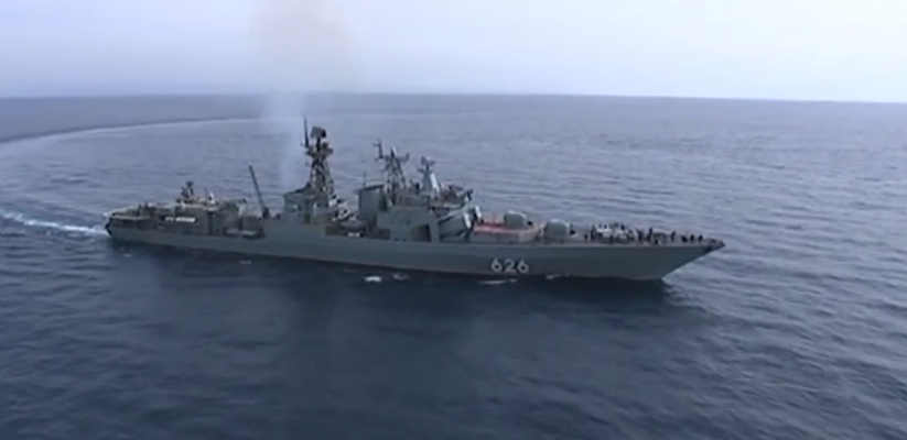 Иностранные журналисты побывали на русском боевом корабле