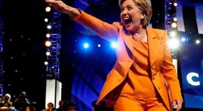 Хиллари Клинтон ведёт себя как сука