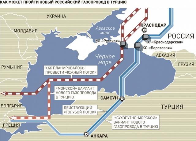 "Газпром заявил о риске срыва ""Турецкого потока"""