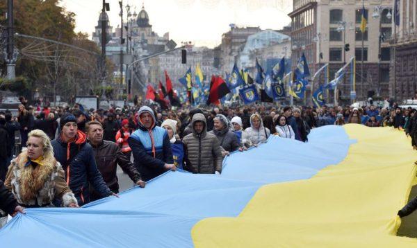День независимости США в русском городе Харькове