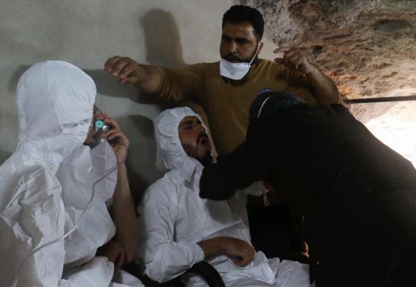 Чудовищная фотосессия в сирийском Хан-Шейхуне