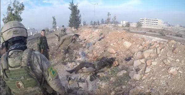 Боец ССО России с нашивкой «Хезболлы»